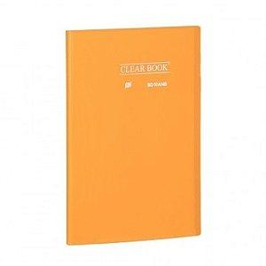 Pasta Catálogo ClearBook 10 folhas A4 Laranja