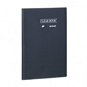 Pasta Catálogo ClearBook 10 folhas A4 Fumê