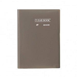 Pasta Catálogo ClearBook 20 folhas A4 Fumê