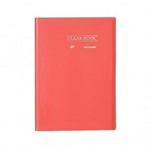 Pasta Catálogo ClearBook 20 folhas A4 Vermelho