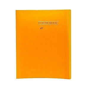 Pasta Catálogo ClearBook 30 folhas A4 Laranja