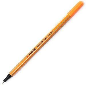 Caneta Stabilo Point 88 - 54 - Neon Orange