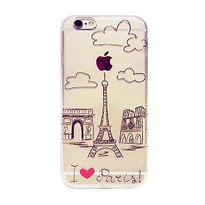 Capa Case I Love Paris - Iphone 6/6S