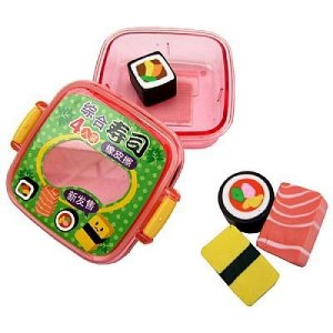 Kit Borracha Sushi Comida Japonesa Rosa