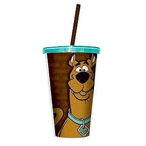 Copo com Tampa e Canudo - Scooby Doo