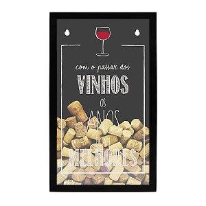 Quadro Porta Rolhas Passar dos Vinhos