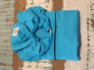 Sling de Argola Linho A.M.A Azul Piscina