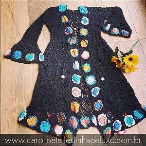 Maxi Casaco de Crochê