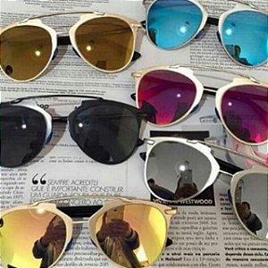 Óculos Oval Refletor