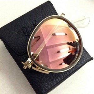 Óculos Round Dobrável