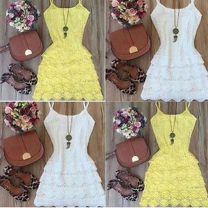 Vestido Tricot  Alça