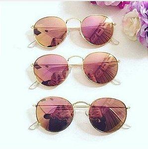 2 óculos por 89,00 - ÓCULOS ROUND ROSÊ