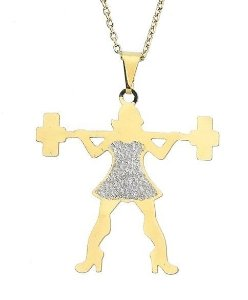 Corrente Menina Fitness Banhada a Ouro