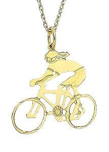 Corrente Ciclista Banhada a Ouro