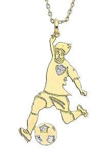 Corrente Jogador Banhada a Ouro