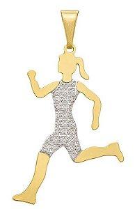 Corrente Atleta Banhada a Ouro