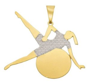 Corrente Pilates Banhada a Ouro