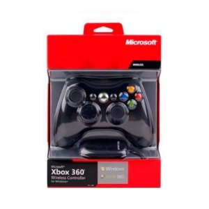 Controle Xbox 360 Wireless Sem Fio + Receptor Usb Para Pc Preto