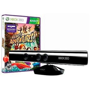 Kinect + Adaptador + Fonte + Jogo Adventures