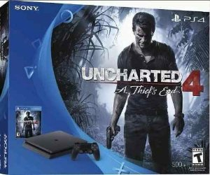 Playstation 4 modelo 2015A 500 Gb + Cabo HDMI c/ 2 Controles + Uncharted  4