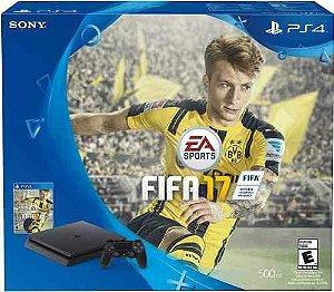 Playstation 4 2015A c/ jogo Fifa 17 c/ 1 controle