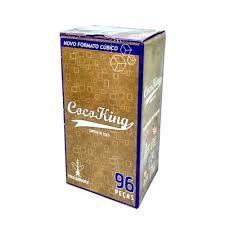 Carvão Cocoking Cúbico 1kg ( 96 peças)