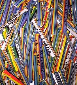 Piteira de Vidro Cartel De La Crema Multicolor ( 3- 4 - 6 - 8 )mm