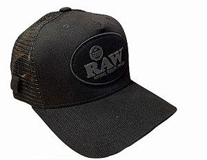 Boné RAW Logo Full Black com Porta Cigarro