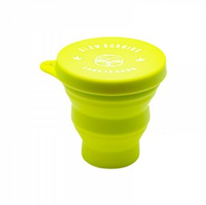 Slick Copo Retrátil de Silicone Slow Burning Kush Cup 200ml Verde