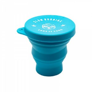 Slick Copo Retrátil de Silicone Slow Burning Kush Cup 200ml Azul