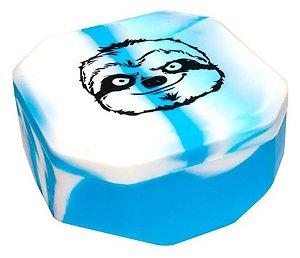 Oil Slick Pote de Silicone Slow Burning Tetra 150ml Azul e Branca