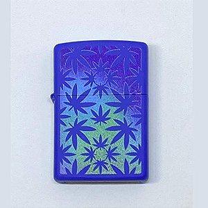 Zippo Weed Azul