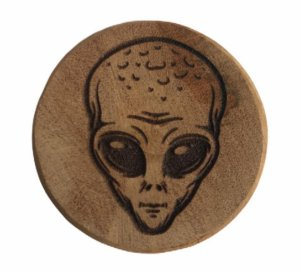 Wood Burning Dichavador Alien