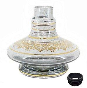 Vaso Aladin Shisha Glass Onix Grega