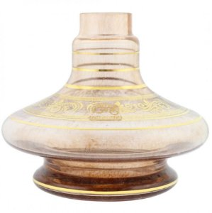 Vaso Aladin Shisha Glass Dourado Grega