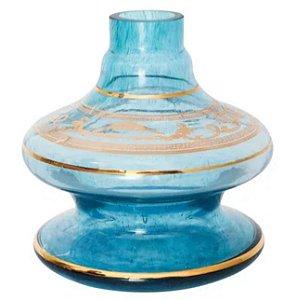 Vaso Nix Shisha Glass Aquamarine Grega