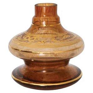 Vaso Nix Shisha Glass Dourado Grega