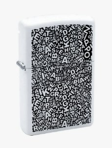 Zippo ZL Scattered Letters