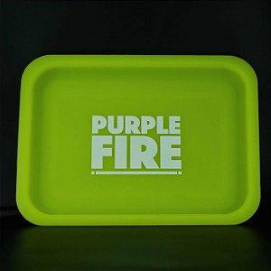 Bandeja de Silicone Purple Fire Verde Brilha no Escuro