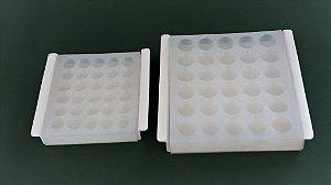 Forma e  Embalagem modelo Bombom - p/ Bala Medicamentosa