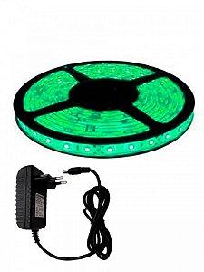 FITA LED 5050 VERDE - COMPLETA COM FONTE