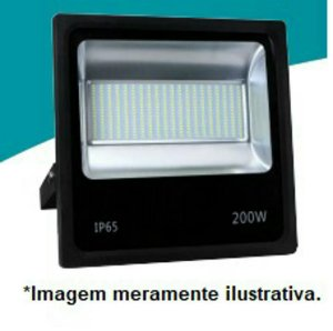 REFLETOR MICROLED SMD SLIM 200W BRANCO FRIO