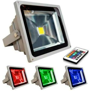 REFLETOR HOLOFOTE LED 20W RGB COLORIDO C/ CONTROLE