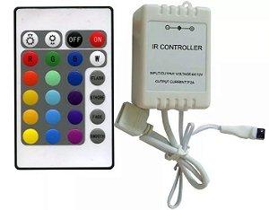 CONTROLE REMOTO E CONTROLADORA PARA FITA LED 5050 3528