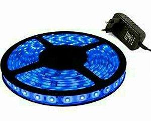 FITA LED 5050 AZUL - COM FONTE