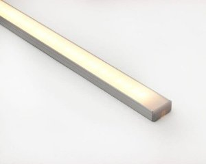Perfil alumínio de sobrepor slim difusor leitoso para LED