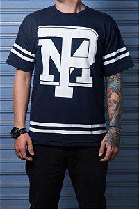 Camiseta com Listra Azul Marinho