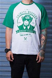 "Camiseta ""Modern"" Verde com Branco"