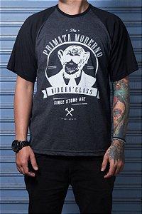 """Camiseta """"Modern"""" Grafite com Preto"""