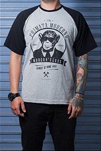 """Camiseta """"Modern"""" Mescla com Preto"""